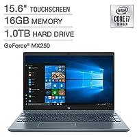 "2020 Newest HP Pavilion 15"" FullHD Home + Business Laptop,15.6"" Touchscreen Laptop - 10th Gen Intel Core I7, 16GB RAM, 1TB Hard Drive 512GB SSD (BOOT) 4GB GeForce MX250 - Fog Blue Win 10"