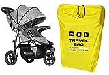 Reisetasche für Kinderwagen Größe zu 100x60x40 cm Transporttasche Buggy Tragetasche Faltbar als Rucksack perfekt am Flughafen beim Einchecken Bahnhof Autofahrten [085]
