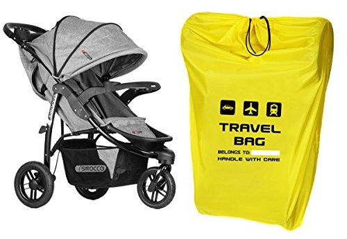Reisetasche für Kinderwagen Größe zu 100x60x40 cm Transporttasche Buggy Tragetasche Faltbar als Rucksack perfekt am Flughafen beim Einchecken Bahnhof Autofahrten NEW [085]