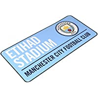 Manchester City FC Official Football Coloured Metal Street Sign
