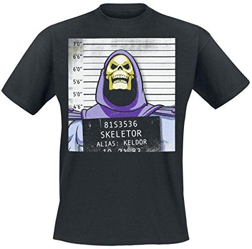 Masters of the Universe Skeletor Mug Shot T-Shirt Schwarz L (Skeletor T-shirt)