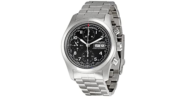 3b8633d49 Hamilton Men's H71516137 Khaki Field Black Dial Watch: Amazon.co.uk: Watches