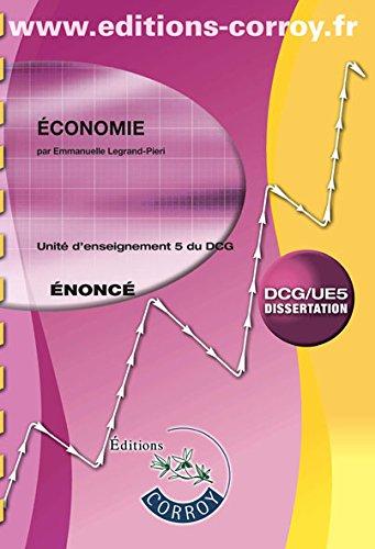 Economie UE 5 du DCG : Enoncé