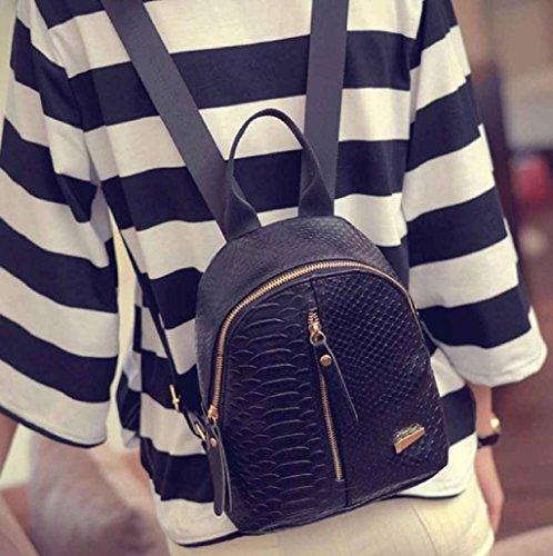 Imagen de  mujer sannysis mujeres bolsos de cuero con cremallera 001, negro  alternativa