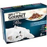 Gourmet Perle Katzenfutter Rind, Kaninchen, Lachs, Huhn, 10er Pack (10 x 8 x 85 g)