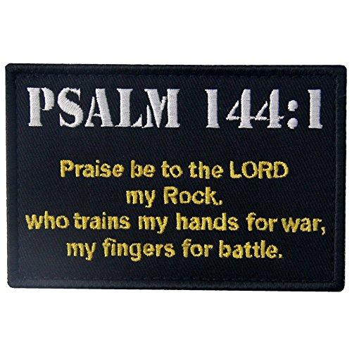 Kampf Kostüm Mädchen Armee - EmbTao Taktisch Psalm 144:1 BNW Kampf Moral Bestickter Aufnäher mit Klettverschluss