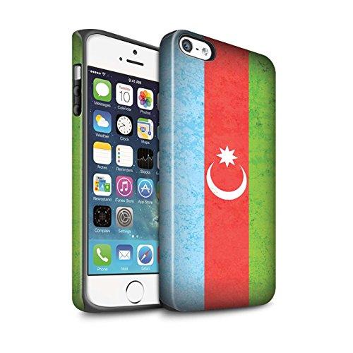 STUFF4 Matte Harten Stoßfest Hülle / Case für Apple iPhone 6 / Georgien/Georgisch Muster / Asien Flagge Kollektion Aserbaidschan