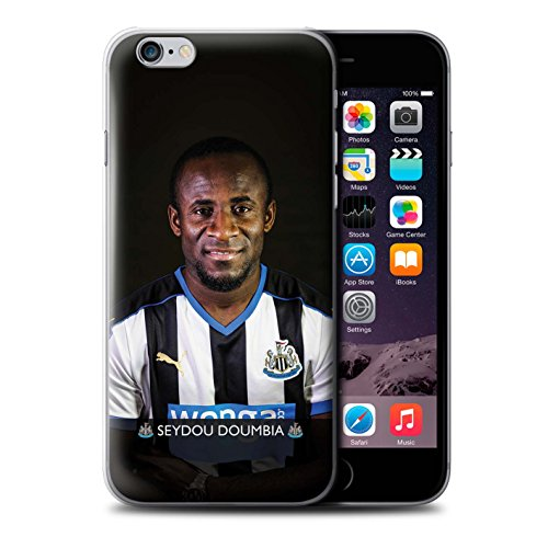 Offiziell Newcastle United FC Hülle / Case für Apple iPhone 6S+/Plus / Pack 25pcs Muster / NUFC Fussballspieler 15/16 Kollektion Doumbia
