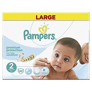 Pampers Sensitive Windeln für Neugeborene, Größe 2, 60 Stück