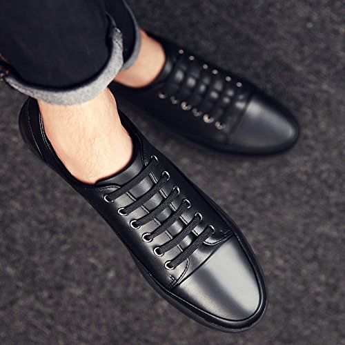 FEIFEI Scarpe da uomo invernali per il tempo libero antiscivolo in morbida pelle di fondo scarpe 3 colori ( Colore : Nero , dimensioni : EU40/UK7/CN41 ) Nero