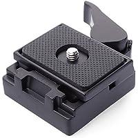 XCSOURCE® Negro Metal Quick Release Plate Plato de Liberación Rápida Conjunto de Adaptadores para Trípode de SLR DSLR Cámara Rotula de Trípode Manfrotto Arca Swiss DC465
