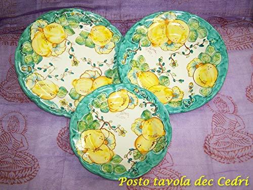 Servizio di piatti per 6 persone in ceramica di Vietri