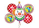 ana-gram Bouquet n 8 Circo Composizione di Palloncini Clown Pagliaccio Circus