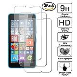 Guran® [3 Stück Displayschutz Glasfolie für Microsoft Lumia 640 XL/Nokia 640 XL Smartphone Hartglas Schutzfolie Film Kompatibel Panzerglasfolie