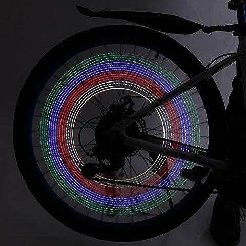 LED Colorful Bicycle Lights Cycling Bike Motorcycle Tire Wheel Valve Flashing Spoke Light 32-pattern Waterproof