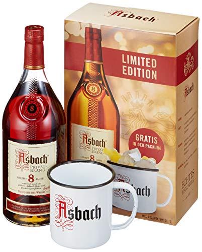 Asbach 8 Jahre Geschenkset mit einem gratis Asbach Buck (1 x 0.7 l)