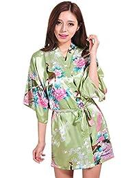 WYSMOL Ropa de Dormir Erótica de Pavo Real y Flor para Mujer Sexy Batas y Kimonos