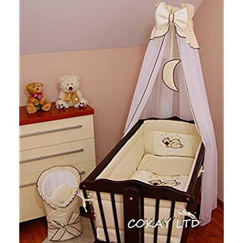 CANOPY drape holder_con supporto, adatta per baby-Culla dondolo %2Fwicker %2Fcraddle MOON), colore: crema