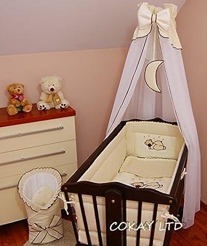 Baldaquin drapé avec porte debout à installer bébé Balancelle lit/Panier en osier/crème Craddle (Lune)
