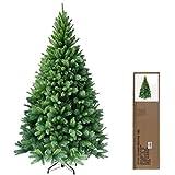 RS Trade 180 cm ca. 824 Spitzen hochwertiger künstlicher Weihnachtsbaum mit Metallständer, Minutenschneller Aufbau mit Klappsystem, schwer entflammbar, HXT 1101