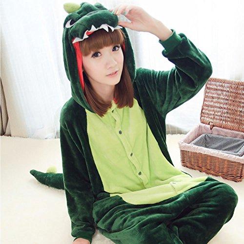 Schwein Mann Kostüm Bär - SED Unisex Adult Pyjamas - Plüsch One Piece Cosplay Tier Kostüm Winter Verdickung Freizeitbekleidung,Dinosaurier,XL