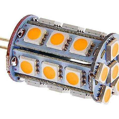 g4 4w 24x5050smd 216lm cálida luz blanca / fresca llevó el bulbo de un coche (12v dc) , cool
