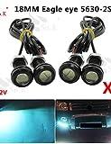 bpzkiwe 4x Ice 9W LED Eagle Eye Licht Auto Nebel DRL Tagfahrlicht Reverse Backup Parking Signal 12V # -4757