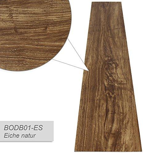 Jago Pavimento adesivo laminato pavimentazione pvc 7 assi copertura di 0,975 m² colore quercia naturale