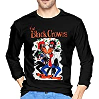 BYYKK Mens The Black Crowes Long Sleeve T-Shirts Black