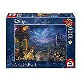 Schmidt spel puzzel 59484 - Thomas Kinkade, Disney The Mooie en het beest, dans in de maanlicht, 1.000 delen puzzel