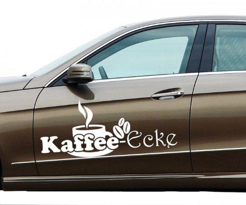 Glanz Kaffee (Auto Aufkleber Kaffee Ecke Coffee Cafe´ Dekoration Tasse Tattoo Sticker 5Q749, Farbe:Königsblau glanz;Breite vom Motiv:50cm)