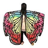 MIRRAY Karneval Kostüme Kind Baby Mädchen Schmetterlingsflügel Schal Schals Nymphe Pixie Poncho Kostüm Zubehör Mehrfarbenorange