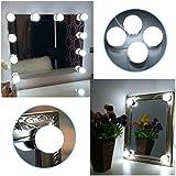 B-right LED Spiegelleuchte Hollywood-Stil dimmbare Spiegellampe,Schminklicht, Schminkleuchte, Make-up Licht. Schminktisch Leuchte Spiegellicht Set für Kosmetikspiegel, 6000K, Kaltweiß