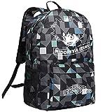 AUGYUESS My Hero Academia anime Cosplay scuola borsa zaino a spalla Bookbag zaino Medium Scarpette a strappo Voltaic 3 Velcro Fade - Bambini