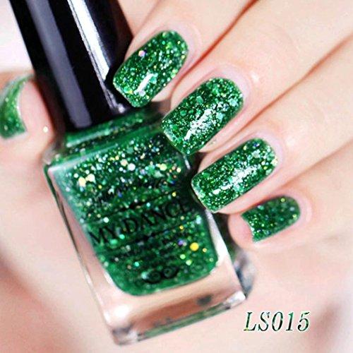 Nagellack, FEITONG Gel Nagel Manicure 6ml Diamant Glitzer Nagellack Sequins Gel Nail (6ml, O)