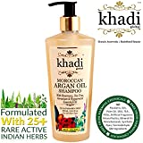 Khadi Global Moroccan Argan Hair Shampoo Rosemary Tea Tree Geranium & Peppermint Essential Oil Infused For Healthy Hair & Scalp - 250ml