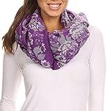 Sakkas CHS1810 - Ontario doppelte Schicht Blumen Pashmina/Schal / Wrap/Stola mit Fransen - 2-Purple - OS
