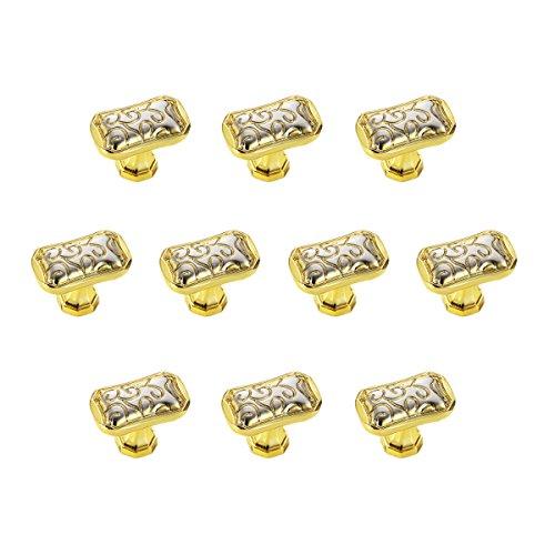 rzdeal 100Heavy Duty Square Knopf, einfache und elegante Pull Solide Hardware für Möbel Knauf Schrank Schublade Box Tür Griff, gold