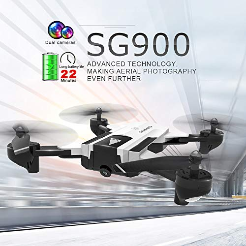 Mitlfuny RC Quadrocopter Drohne,SG900 2,4 GHz 4CH Haltung Halten WiFi 1080P Optischer Fluss Dual Kamera RC ()