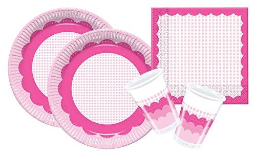 Procos 10105484 - Set di accessori per feste, motivo: quadretti rosa, misura S