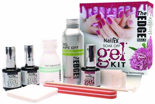 The Edge Nails Nail FX Soak Off Ultra Violet LED Gel Kit