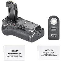 Neewer® Impugnatura Portabatteria con LCD Timer per Fotocamere DSLR Canon EOS 550D 600D / Rebel T2i T3i + 2pz CANON LP-E8 Batterie