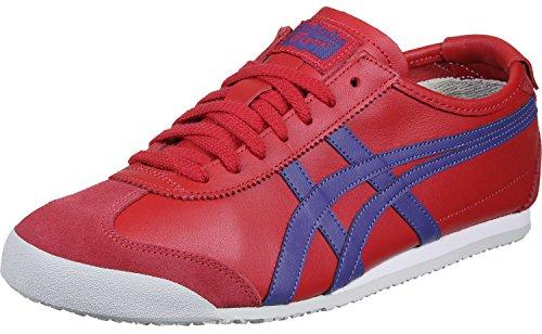 Asics Mexico 66, Baskets Basses Mixte Adulte Rouge (True Red/asics Blue)