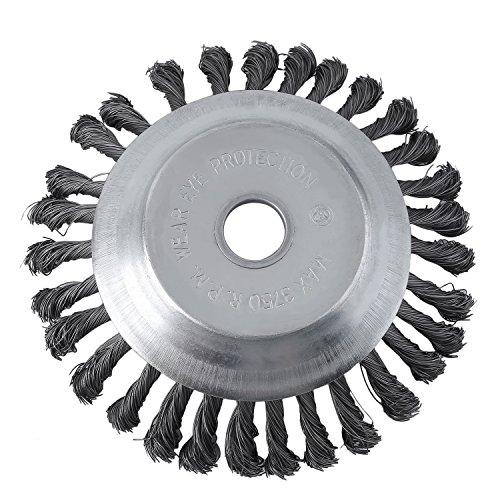 OUTAD Profi Wild kraut Joint brosse Brosse de désherbage 25,4x 200mm Fil de débroussailleuse Fil d'acier