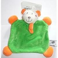 Preisvergleich für Malice und Blase–Plüschtiere und Kuscheltiere Flaches Kuscheltier Bär/Bär grün Schal Orange 18x 18cm Baby Mädchen oder Jungen