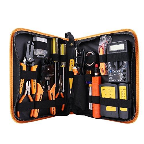 Professionelle Netzwerk-Computer-Wartung-Reparatur-Werkzeug-Kit-Toolbox-Draht-Schlag-Schlag-Werkzeug-Stripper-Schneider-Satz