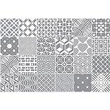 24 Stickers adhésifs carrelages | Sticker Autocollant Carreaux de Ciment - Mosaïque carrelage Mural Salle de Bain et Cuisine | Carreaux de Ciment adhésif Mural - azulejos - 24 pièces