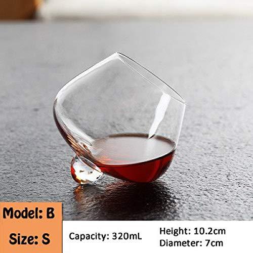Ccmoo bicchiere da vino bicchiere girevole creativo bicchiere whisky bicchiere da cocktail cocktail brandy cucina di casa bar drinkware-2 natale