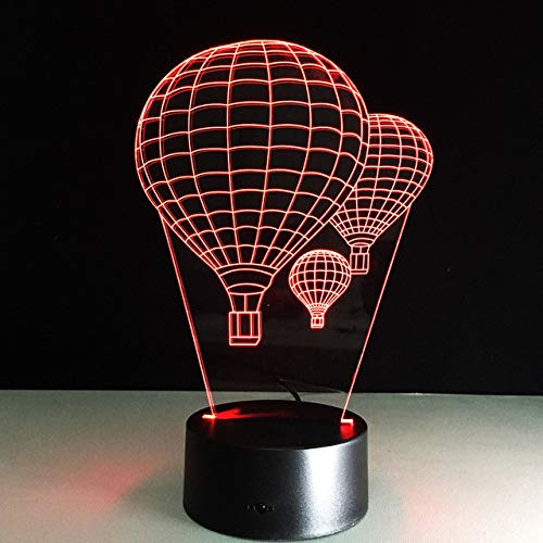 Farb-Heißluft-Ballon-Acryl-3D-Stereosicht-kleine Lampen führten Nachtlicht-Noten-Beleuchtung