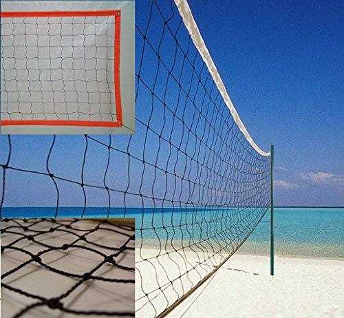 Red de voley playa modelo polietileno con cinta perimetral